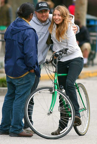Santa Cruz girl on bike
