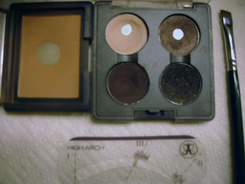 MAC Shadow Quad, Angled Brow Brush, NARS Zen