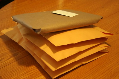 packages ready for post