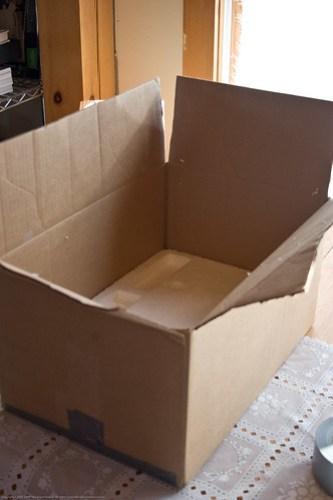 DIY Solar Oven: outer box