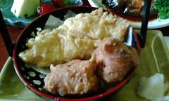 美味、鯰の天ぷら