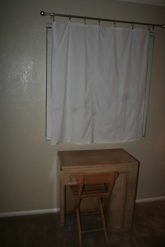 New fancy curtain rod and curtain