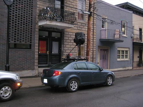 Google Street View car at 4095 Hotel de Ville (photo by Kyle MacDonald)