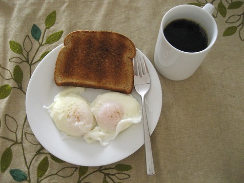 poached eggs and toast