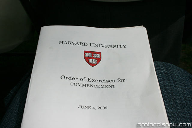 Harvard University2009 graduation ceremony brochure