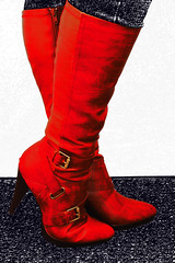 Red Red boots
