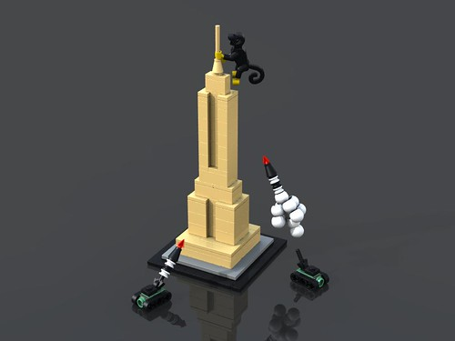 LEGO King Kong and Empire State Building