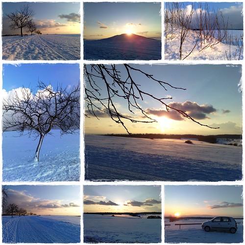 Winterlandschaft 02/2009 Collage