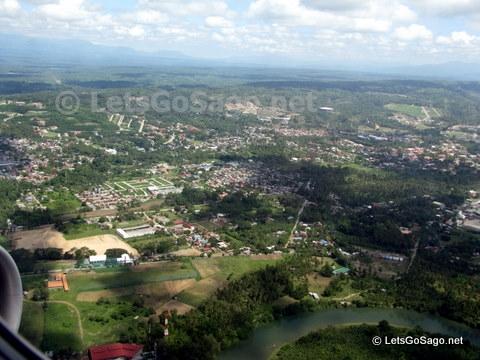 Davao City Aerial View from Cebu Pacific plane