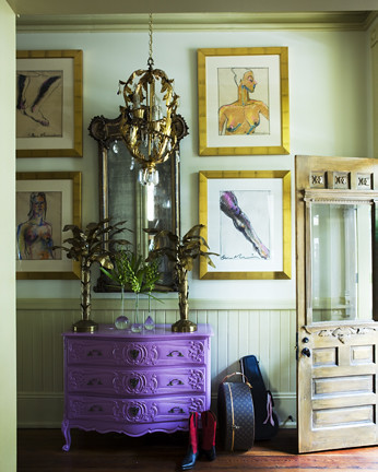 James Merrell purple dresser