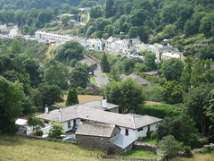 View of Laxey from the top of Lady Isabella