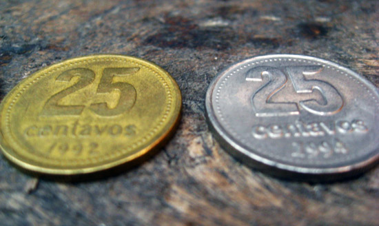 coins, monedas, argentinean pesos, money