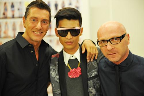 Domenico Dolce & Stefano Gabbana with Bryanboy