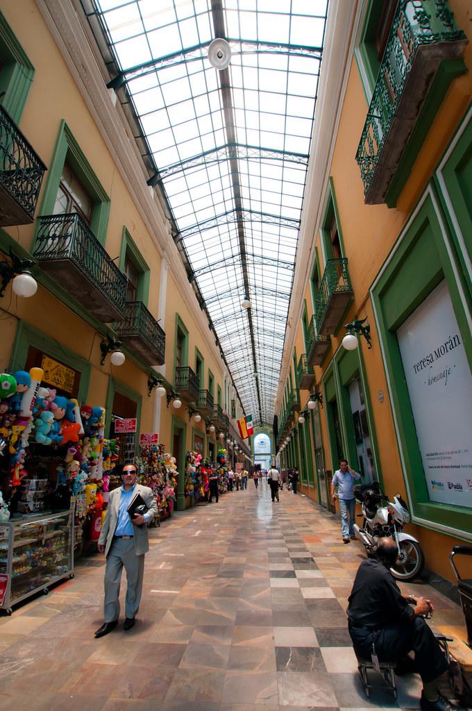 Hallway near the zocalo in Puebla, Mexico