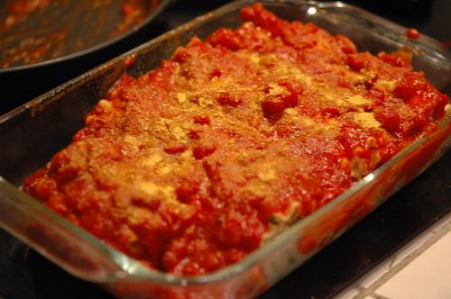 Sauced Lasagna