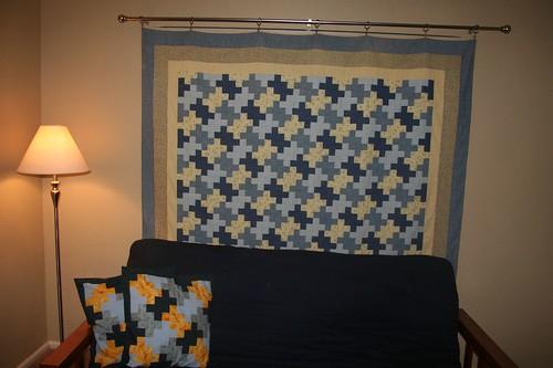 NAU quilt, hanging