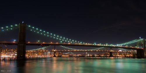 Brooklyn Bridge, Manhattan Bridge, and Williamsburg Bridge