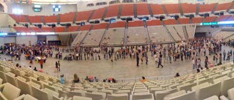 There are a lot o people who turned out for the new Disney movie auditions in Lafayette at the cajundome.