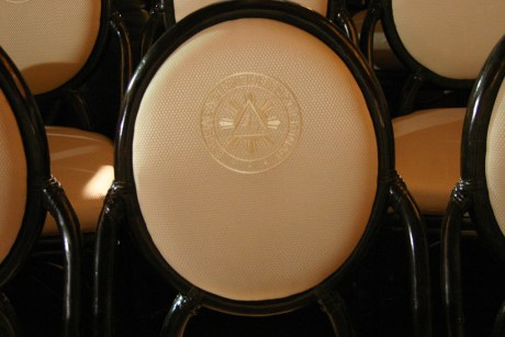 The Malacanang Presidential Seal stitched on every back rest of the chairs at the Rizal Hall