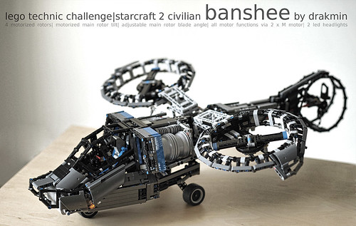 Lego Technic Starcraft 2 Civilian Banshee