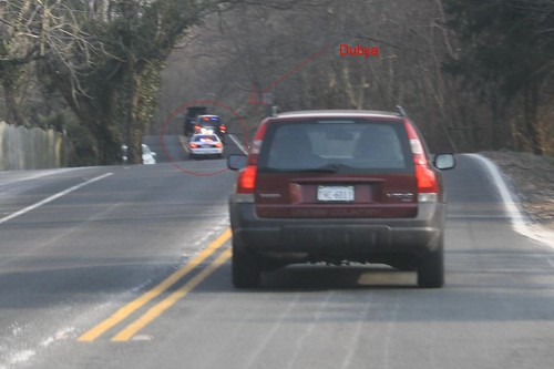 Tail End of Presidential Motorcade