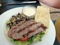 wild thyme gourmet - grilled strip sandwich