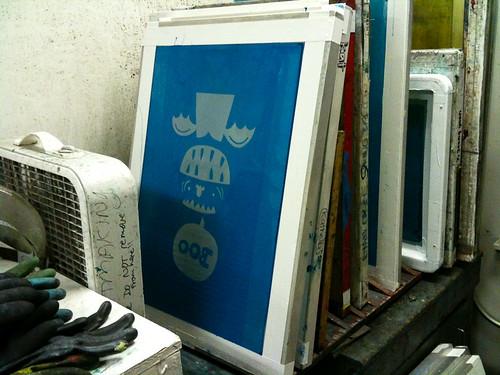 screenprinting class week 3: screen two waiting its turn