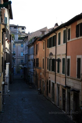 An empty street, Trastevere, Rome