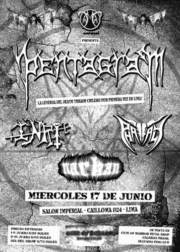 PENTAGRAM afiche concierto Lima Peru