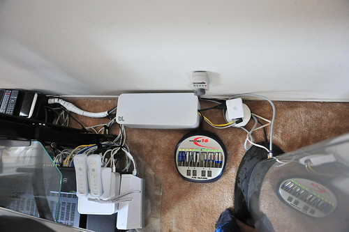 The white CableBox installed