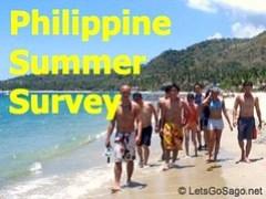 Philippine Summer Travel Survey