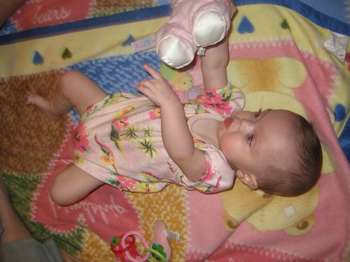 "Maddie playing with ""baby"""
