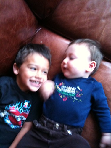 Mason and Jude. June 2009
