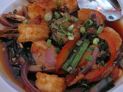 nam - claypot shrimp close up
