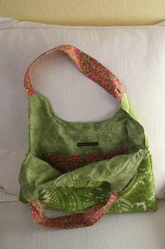 Spring bag, open