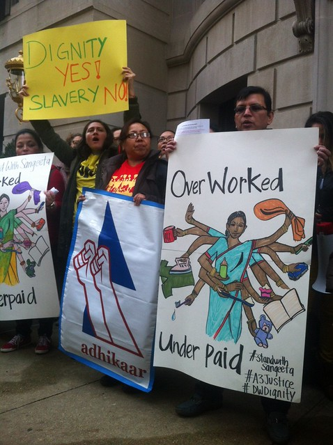 #StandwithSangeeta Rally for justice for Domestic Workers