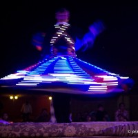 Egyptian Folk Dancer, Performing Tanoura, Glowing In The Dark