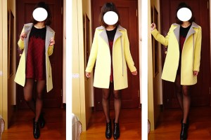 網購韓貨|YOURZ一月連線♥.買件糖果色大衣一路穿到春季吧!
