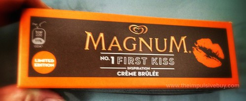 Magnum First Kiss Creme Brulee Ice Cream Bar