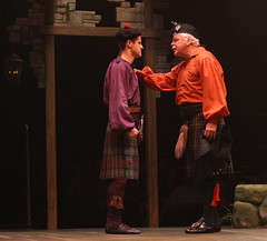 (L to R) Luke Hawkins (Harry Beaton) and Rich Hebert (Andrew MacLaren) in Brigadoon, produced by Music Circus at the Wells Fargo Pavilion August 5-10, 2014. Photos by Charr Crail.