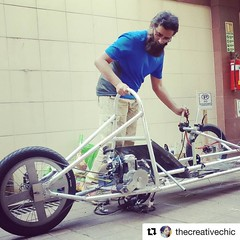 #Repost @thecreativechic with @repostapp ・・・ Here's to the crazy ones! An engineers mecca @makersasylum lets you innovate and create your ideas.  @faisthaks working on the the latest technology on cycling  on the block and preparing this mean #machine  #c