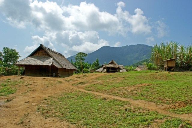 entrance to hmong village