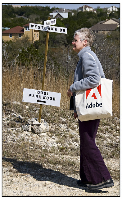 Honoria with Her Adobe Bag