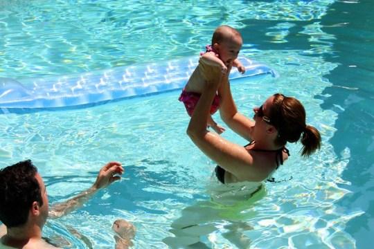Maddie loves swimming