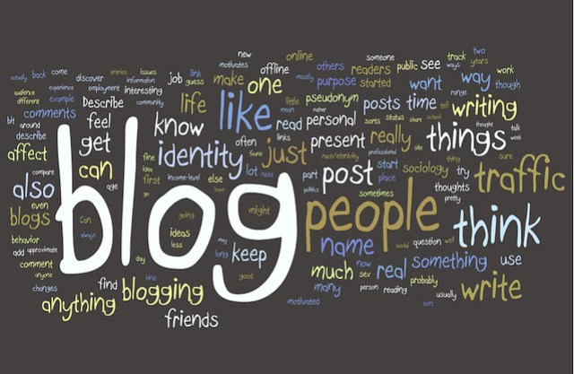 Blogging Research Wordle