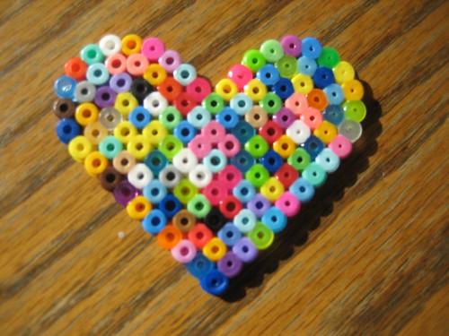 Perler Beads Heart