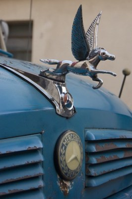 Pegasus hood ornament on an old truck in Caballito by blmurch, on Flickr