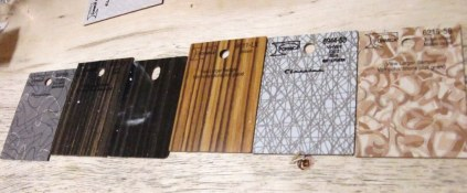 choices - wood finish examples - Deacon's Corner