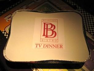 Venison TV dinner at Bearfoot