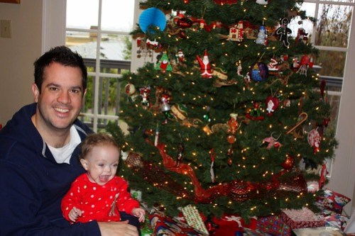 Maddie & Daddy on Christmas
